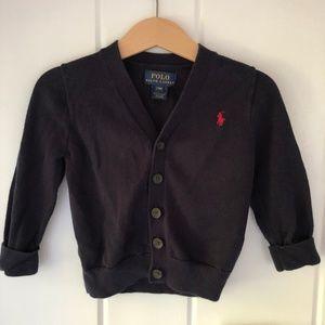 Polo Ralph Lauren Navy Cotton V-Neck Cardigan